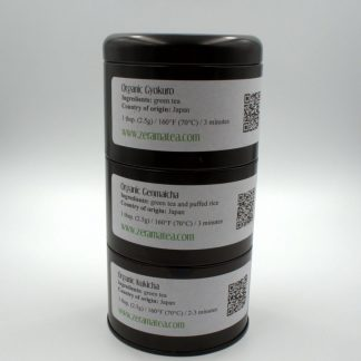 Organic Japanese Tea Sampler view of packaging