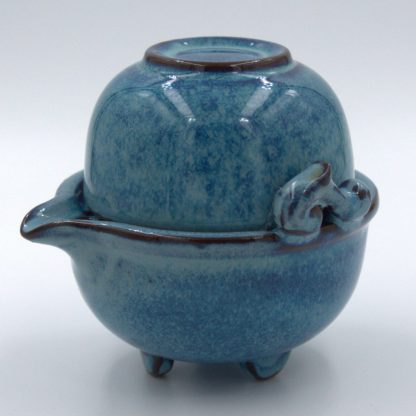 Tea For One Set side view of cup nested in pot