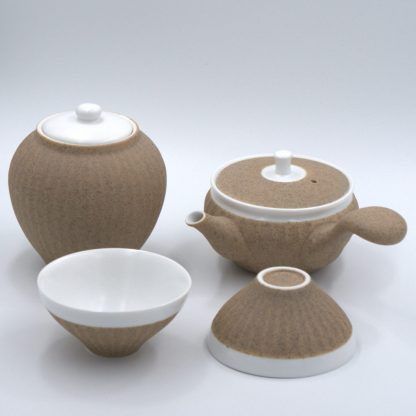 Tea Set with tea pot, canister and cups