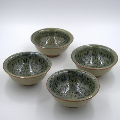 Green Glazed Yixing Cups view of four cups