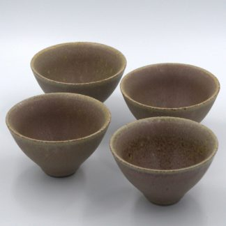 Purple Clay Cups view of all four cups