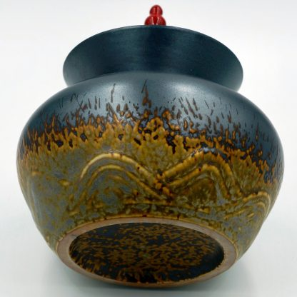 Temple Jar Tea Canister view of finish
