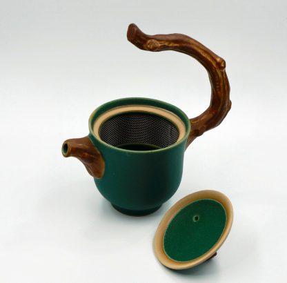 Twig Handle Tea Pot view of infuser