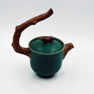 Twig Handle Tea Pot side view