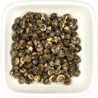 Jasmine Pearls dry leaf view