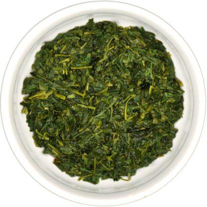 Organic Kabusecha wet leaf view