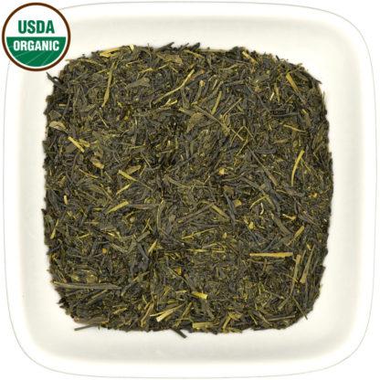 Organic Sencha Isagawa dry leaf view