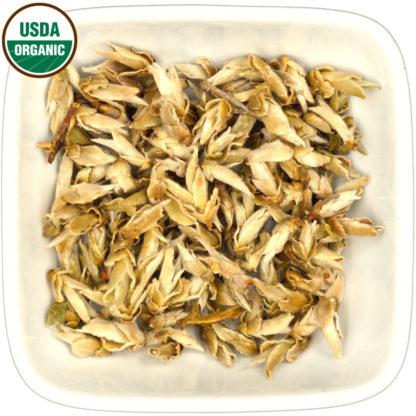Organic Bai Ya Bao dry leaf view