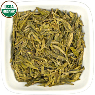 Organic Long Jing dry leaf view