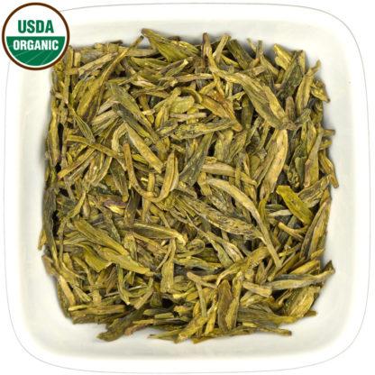 Organic Long Jing dry leaf view