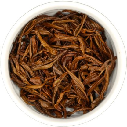 Organic Yunnan Golden Needle wet leaf view