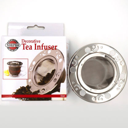 Norpro decorative tea infuser package view