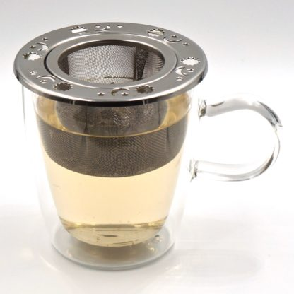 Norpro decorative tea infuser front in-use view