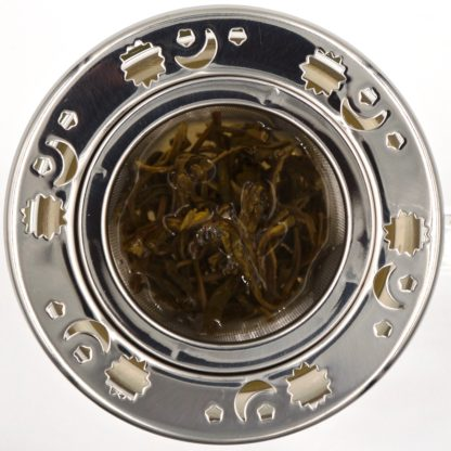 Norpro decorative tea infuser top in-use view