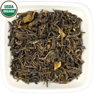 Organic Colombian Green dry leaf view