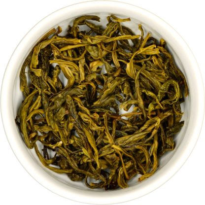 Organic Colombian Roasted Green wet leaf view