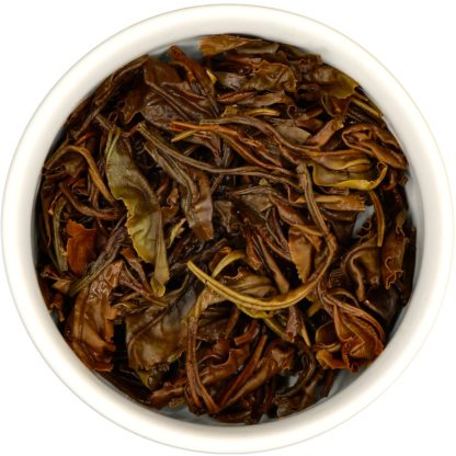 Organic Colombian White Tea wet leaf view