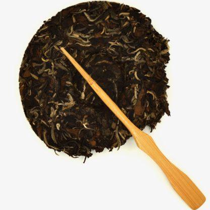 2017 Aged White Tea dry leaf view