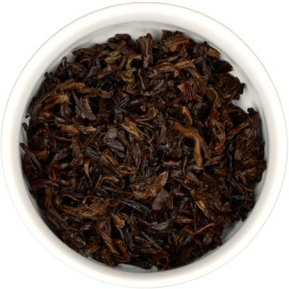 Lapsang Souchong wet leaf view