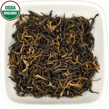 Organic Old Bush Yunnan Black dry leaf view