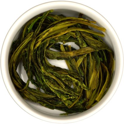 Tai Ping Hou Kui wet leaf view