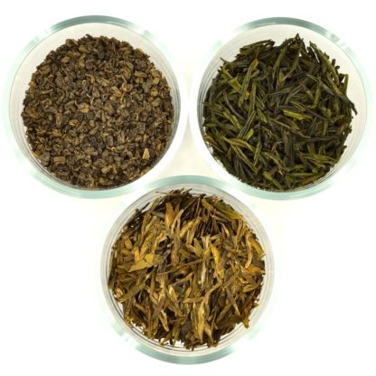 Chinese Green Tea Sampler dry leaf view